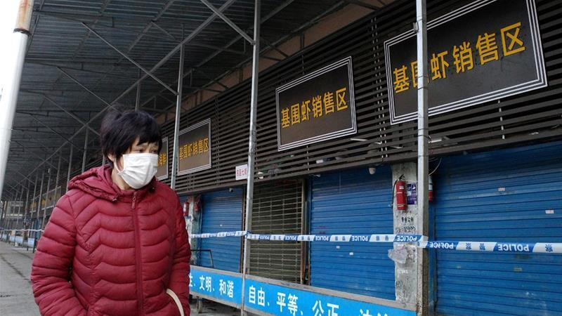 Wuhan seafood market closed after the New Coronavirus was detected there for the first time. (Jan. 20, 2020.)